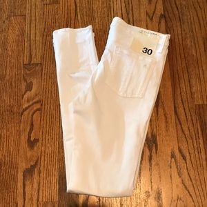 Rag & Bone skinny white ankle jeans 30 NWT